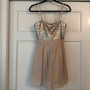 Gold Sequin Dress size Small